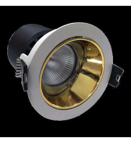 Foco downlight LIFUD PLATA/ORO 10W (Ojo de buey)