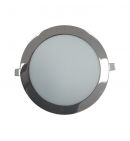 Downlight 18w redondo plata brillante