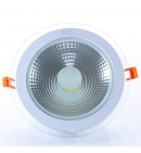 Panel Downlight de cristal 18W redondo (COB)