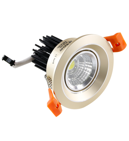 Golden round Spotlight Downlight 5W (porthole)