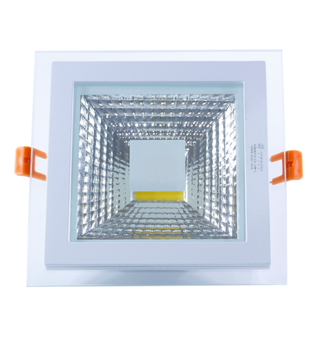 Panel Downlight de cristal 18W cuadrado (COB)