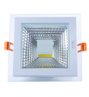 18W square glass downlight panel (COB)