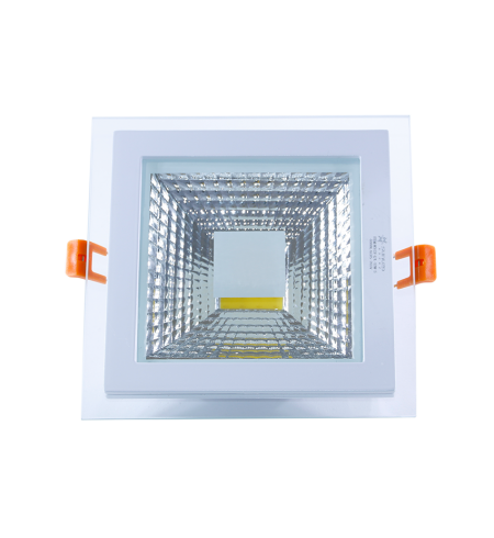 12W square glass downlight panel (COB)