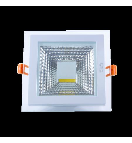 Panel Downlight de cristal 12W cuadrado (COB)