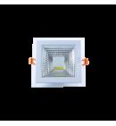 Panel Downlight de cristal 6W cuadrado (COB)