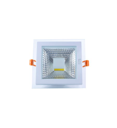 Panel Downlight de cristal 6W cuadrado (COB)